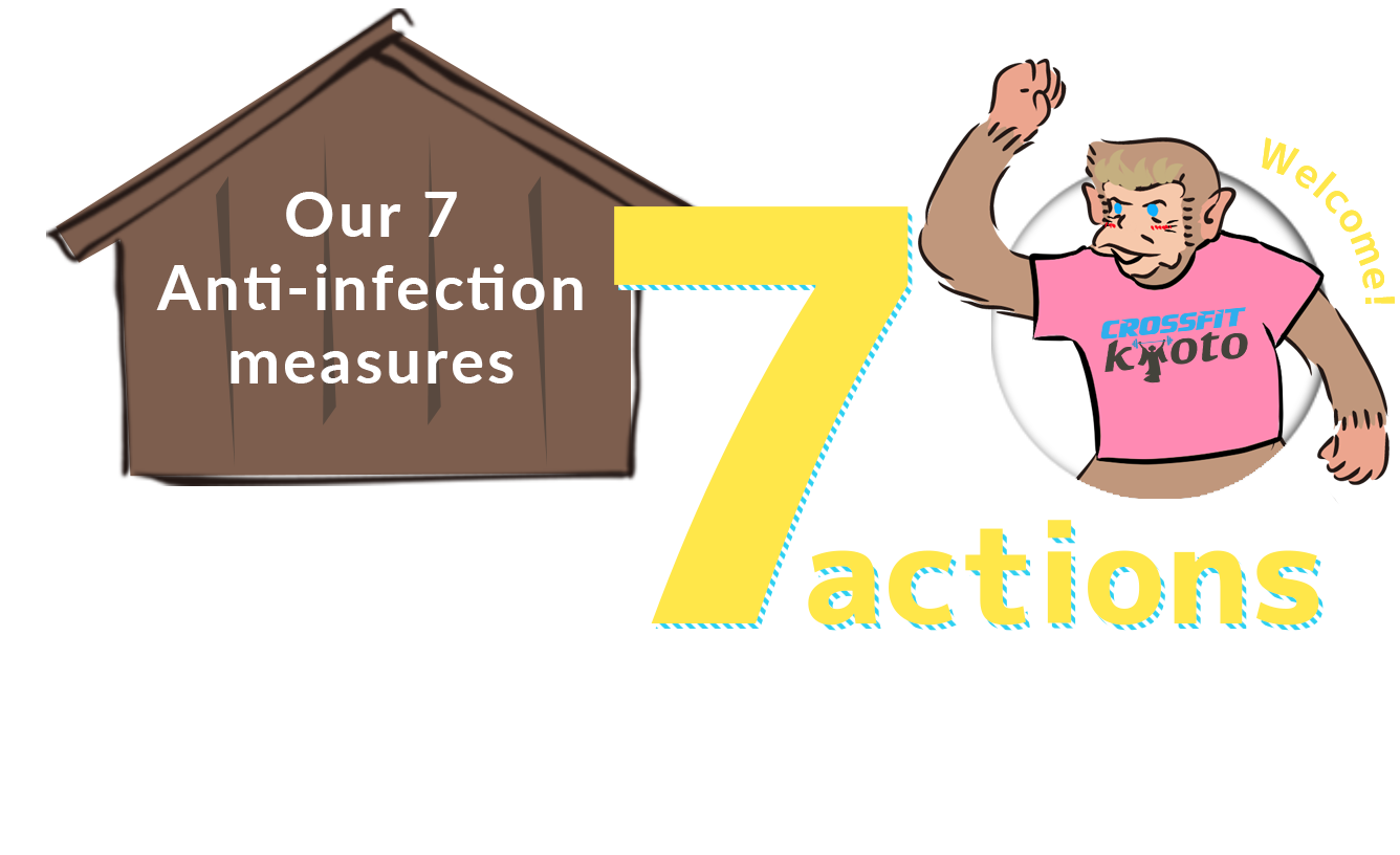 Our 7 Anti-infection measures Join us in 7 actions to prevent infection!